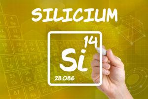 Symbol für das chemische Element Silicium