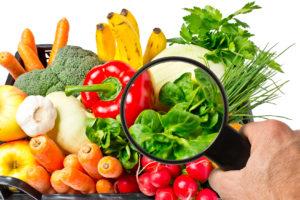 Lebensmittelkontrolle bei Obst und Gemse