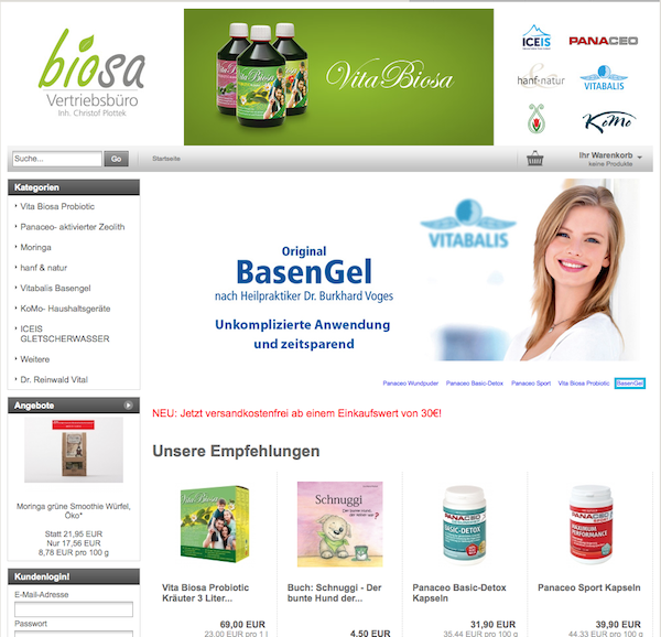 Biosa Der Shop Panaceo